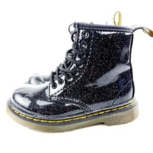 Baby Dr Marten sparkle black boots size 8 toddlers